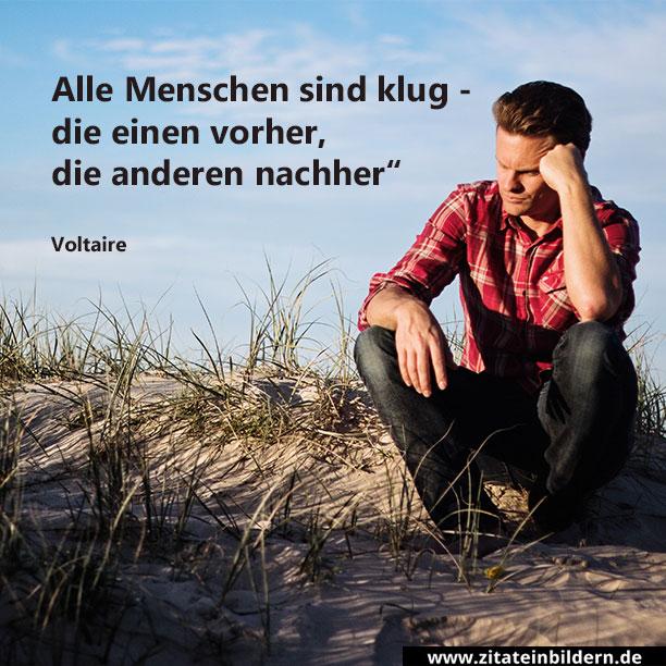 Alle Menschen sind klug - die einen vorher, die anderen nachher. (Voltaire)